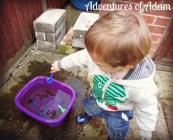 Adventures of Adam toddler water play