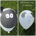 Adventures of Adam sheep balloon and sheepdog balloon