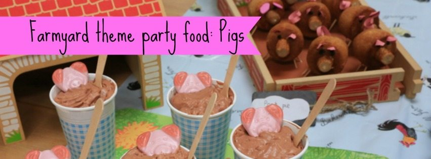 Adventures of Adam farmyard theme party food pigs