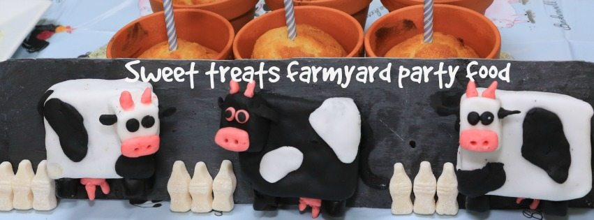 Adventures of Adam Farmyard theme party food cakes