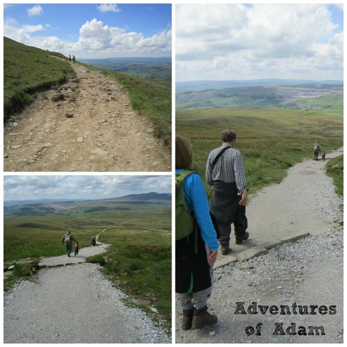 Adventures of Adam walking down pen-y-ghent