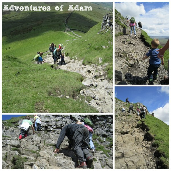 Adventures of Adam scramble up Pen-y-ghent