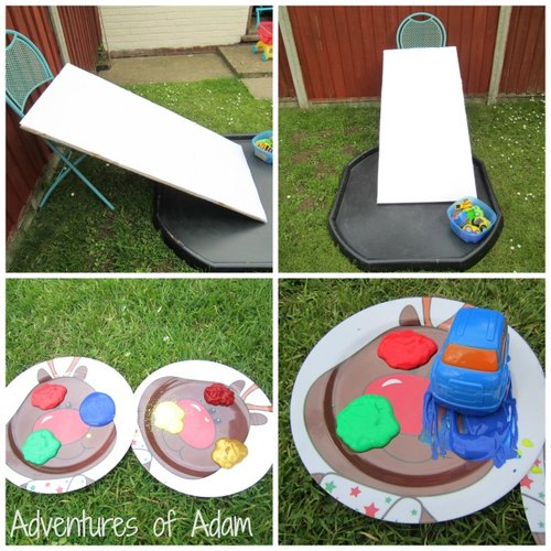 Adventures of Adam car ramp painting