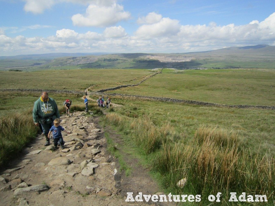 Adventures of Adam view from Pen-y-ghent