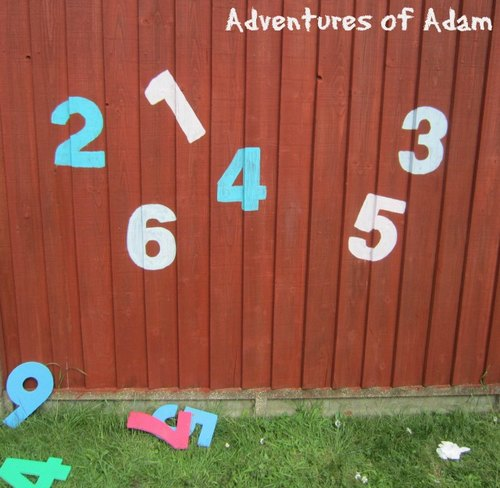 Adventures of Adam toddler number wall