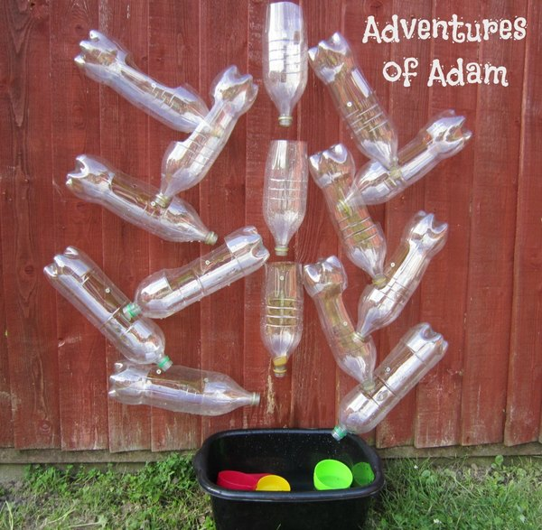 Adventures of Adam recycled plastic bottle water wall