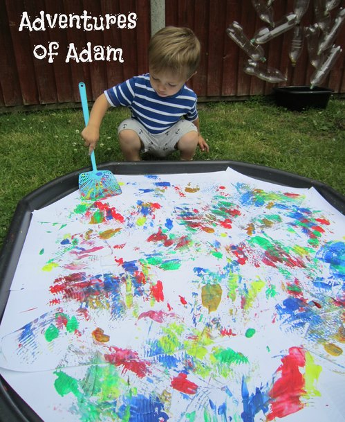 Adventures of Adam gross motor toddler painting