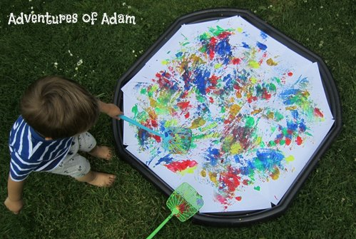 Adventures of Adam Paint splat materpiece