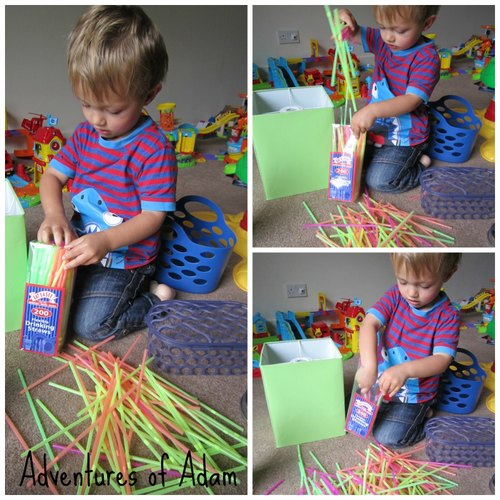 Adventures of Adam fine motor skills straws