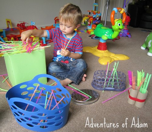 Adventures of Adam toddler straw play