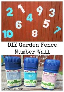 DIY Garden Fence Number Wall