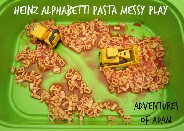 Heinz Alphabetti Pasta Messy Play