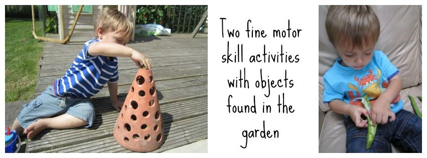 Adventures of Adam Two fine motor skill activities with objects found in the garden