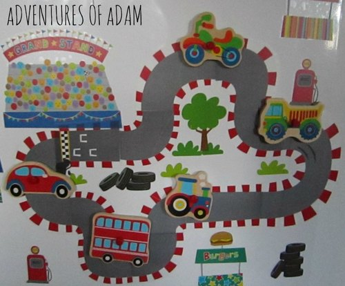 Adventures of Adam magnet car track