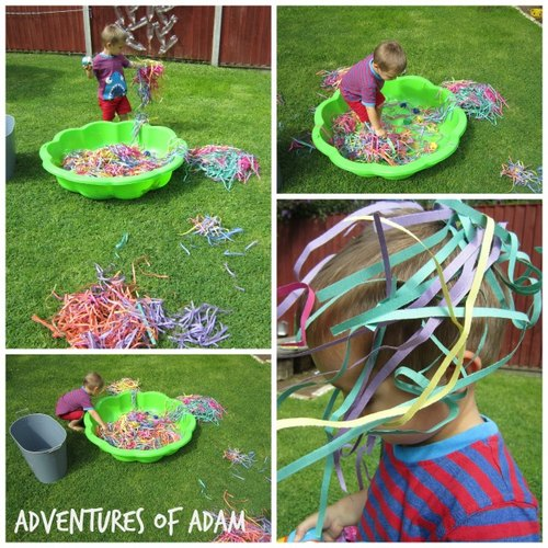 Adventures of Adam toddler outside play