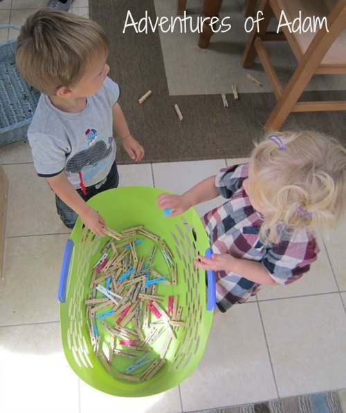 Adventures of Adam toddler peg activity