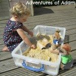 Adventures of Adam Meerkat Manor sensory bin