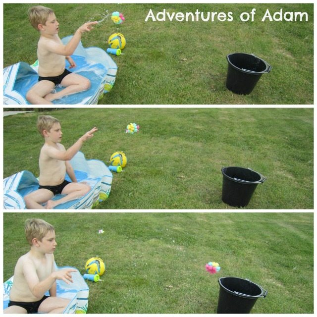 Adventures of Adam water bomb target practise