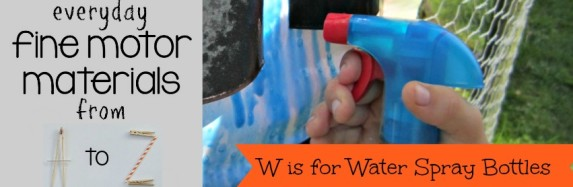 W is for Water Spray Bottles