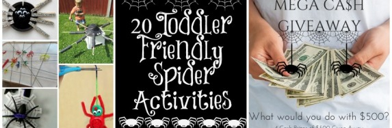 20 toddler friendly spider activities + Mega Cash Give-away