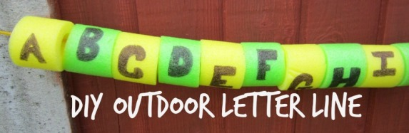 DIY Outdoor Letter Line