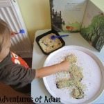 Adventures of Adam toddler art activity