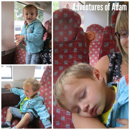 Adventures of Adam toddler train trip