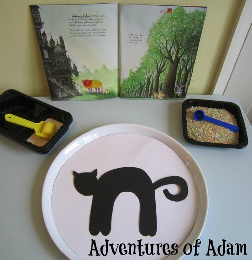 Adventures of Adam toddler winnie the witch activity