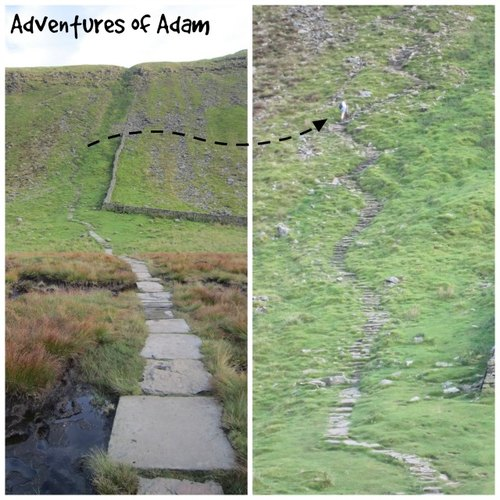 Adventures of Adam zig zag path up Ingleborough