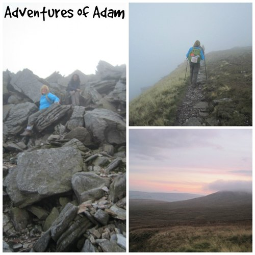 Adventures of Adam climbing down Ingleborough