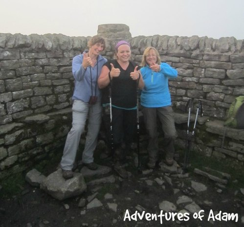 Adventures of Adam summit of Ingleborough