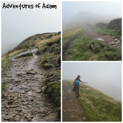 Adventures of Adam reaching the summit of Whernside