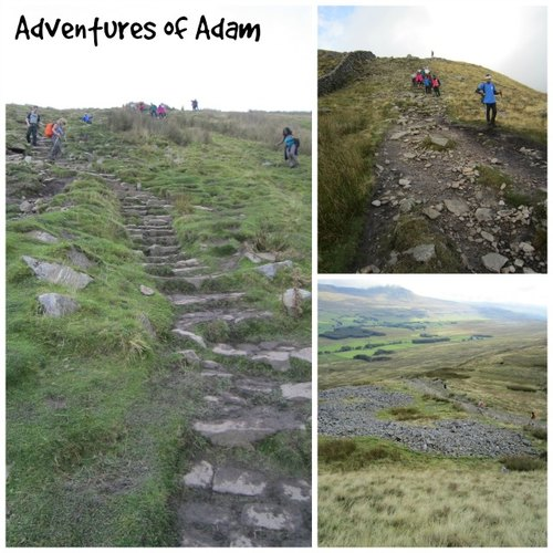 Adventures of Adam steep descend from Whernside