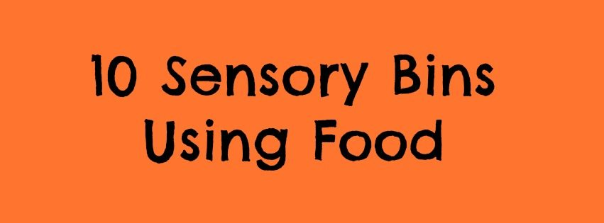 Adventures of Adam sensory bins using food
