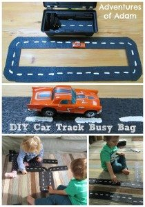 DIY Car Track Busy Bag Adventures of Adam
