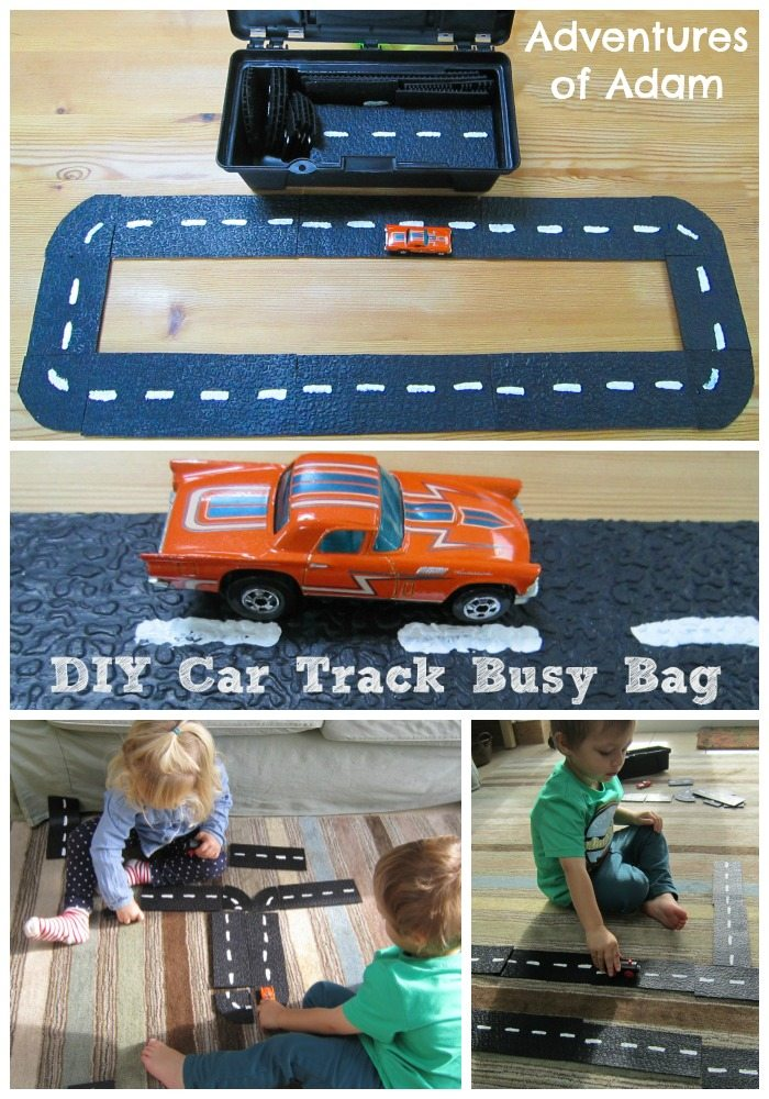 DIY Car Track Busy Bag
