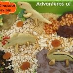 Adventures of Adam edible dinosaur sensory bin