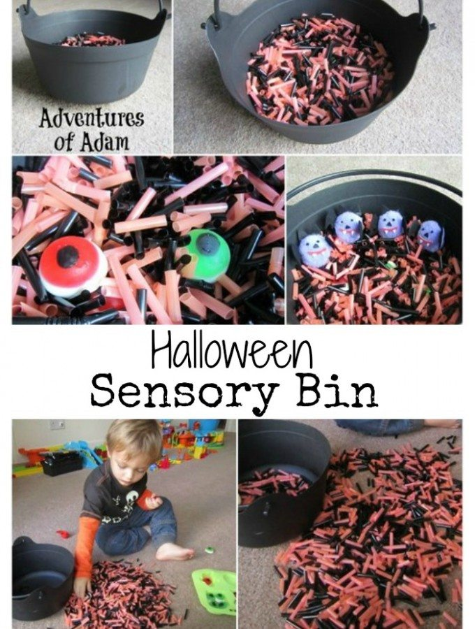 Adventures of Adam Halloween Sensory Bin