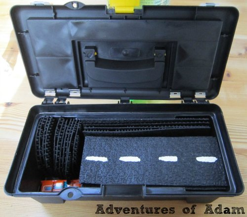 Adventures of Adam car track busy bag