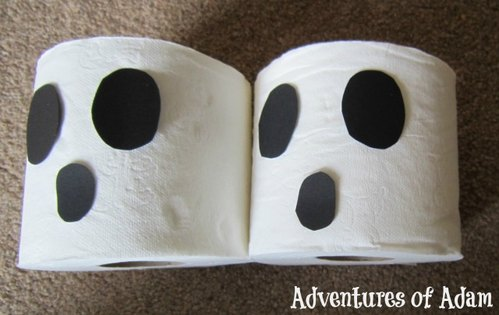 Adventures of Adam How to turn a toilet roll into a ghost