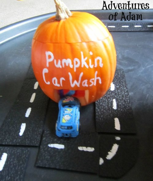 Adventures of Adam pumpkin car wash