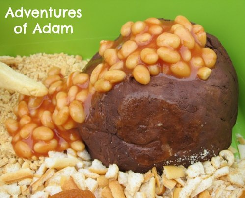 Adventures of Adam edible volcano