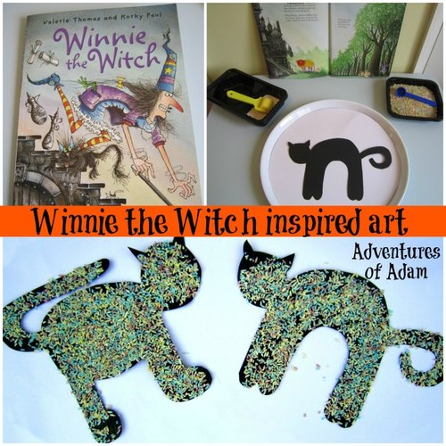 Adventures of Adam Winnie the witch inspired art