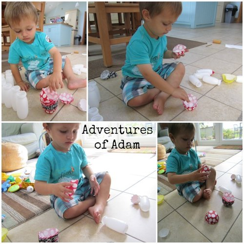 Adventures of Adam ways to play with cup cake cases