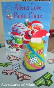 Aliens love Panta Claus Play Dough Christmas Tree Adventures of Adam