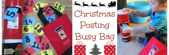 Christmas Posting Busy Bag