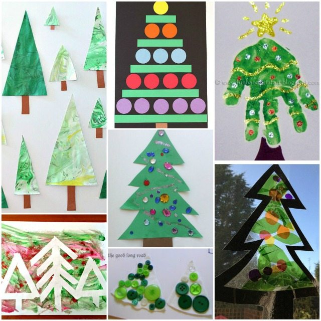 Adventures of Adam toddler Christmas tree crafts