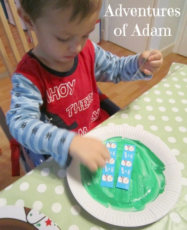 Adventures of Adam toddler Christmas activity