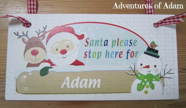 Adventures of Adam Many Fab Things Christmas Sign