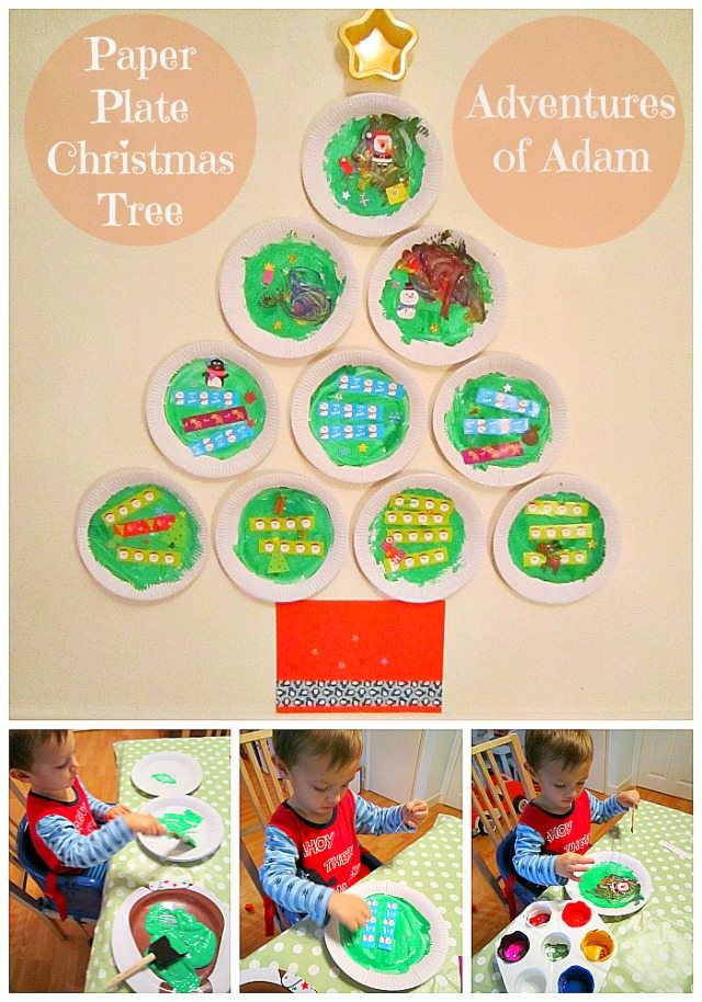 Adventures of Adam Paper Plate Christmas Tree